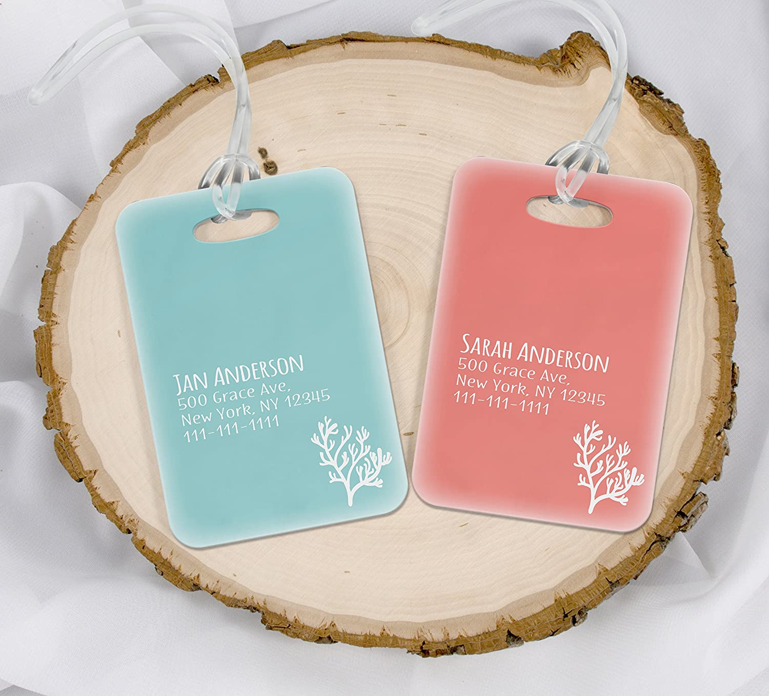 Amazon.com | Mrs. MyLaurie Beach Luggage Tags - Mr and Mrs Luggage ...