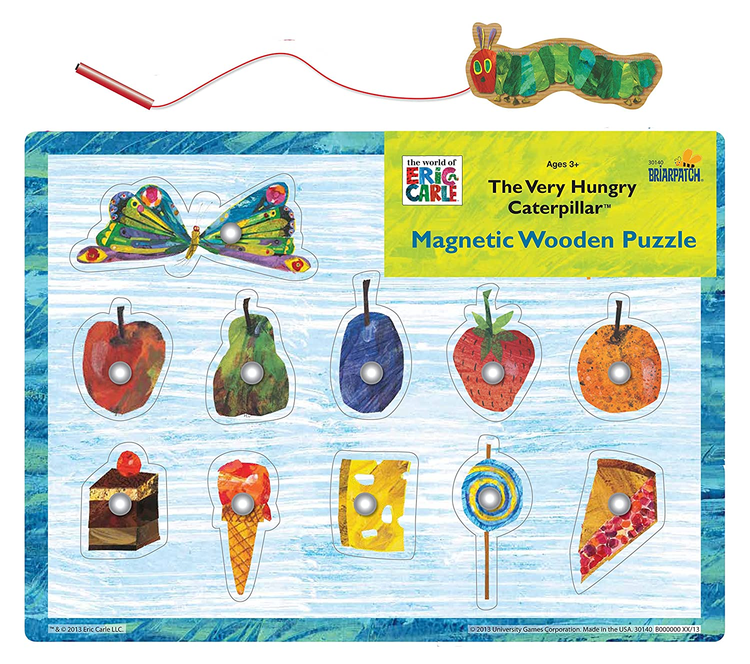 The World of Eric Carle Very Hungry Caterpillar Magnetic Wood Puzzle University Games 30140