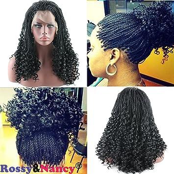 Amazon Com Rossy Nancy Black Twist Braids Hair Wigs Curly Braided