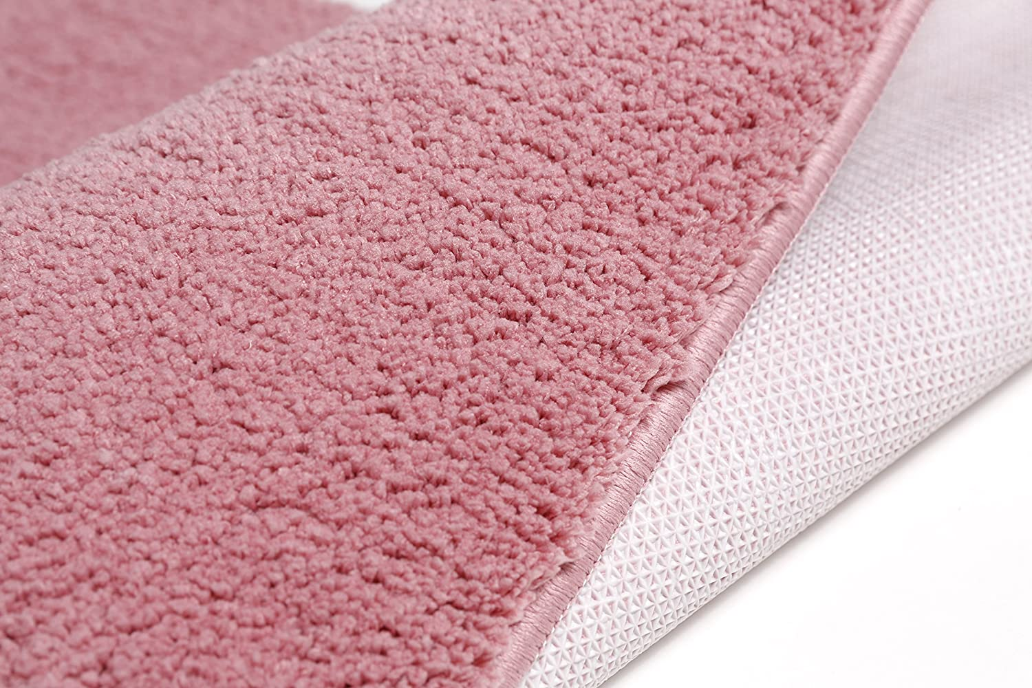 Pink, 23.6in x 35.4in Kitchen Pad Bedroom Rug 1.9ftx2.9ft Mat Bath Mat Non-Slip Baby Crawling Mat Long Fur Floor Mat VUGO Area Carpet for Living Room 60x90cm