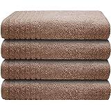 Gallant 4 tlg Handtücher-Set 4 x Handtuch 50x100 cm 100% Baumwolle beige