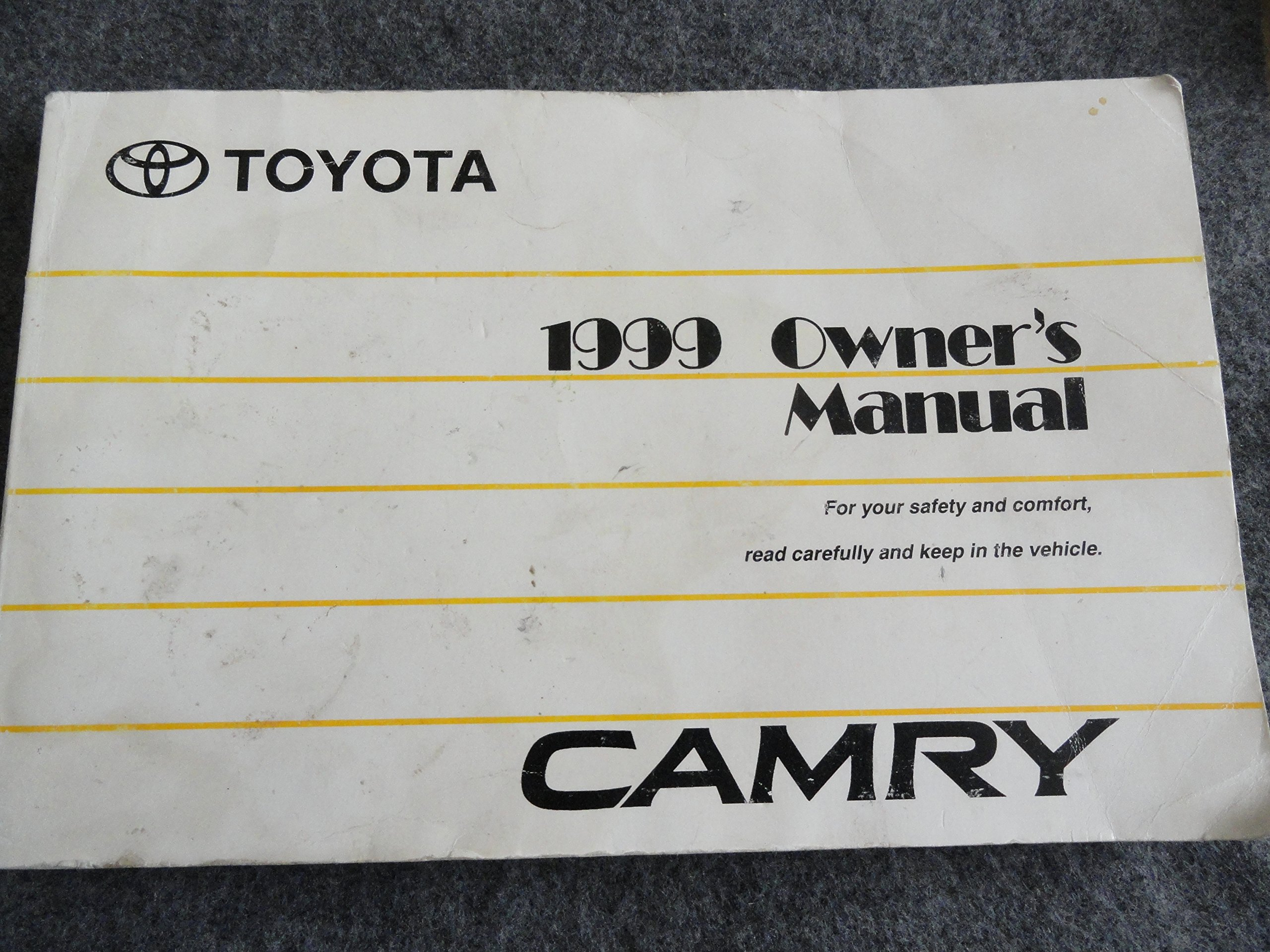 1999 Toyota Camry Owner's Manual: Toyota Motor Corporation: Amazon.com:  Books