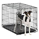 MidWest Homes for Pets Dog Crate | iCrate Single Door & Double Door Folding Metal Dog Crates
