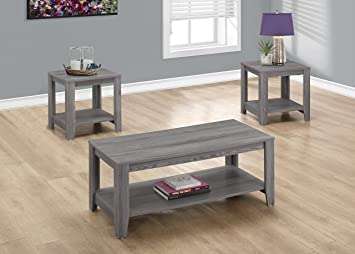 Amazon Com Monarch I Piece Table Set Grey Kitchen Dining