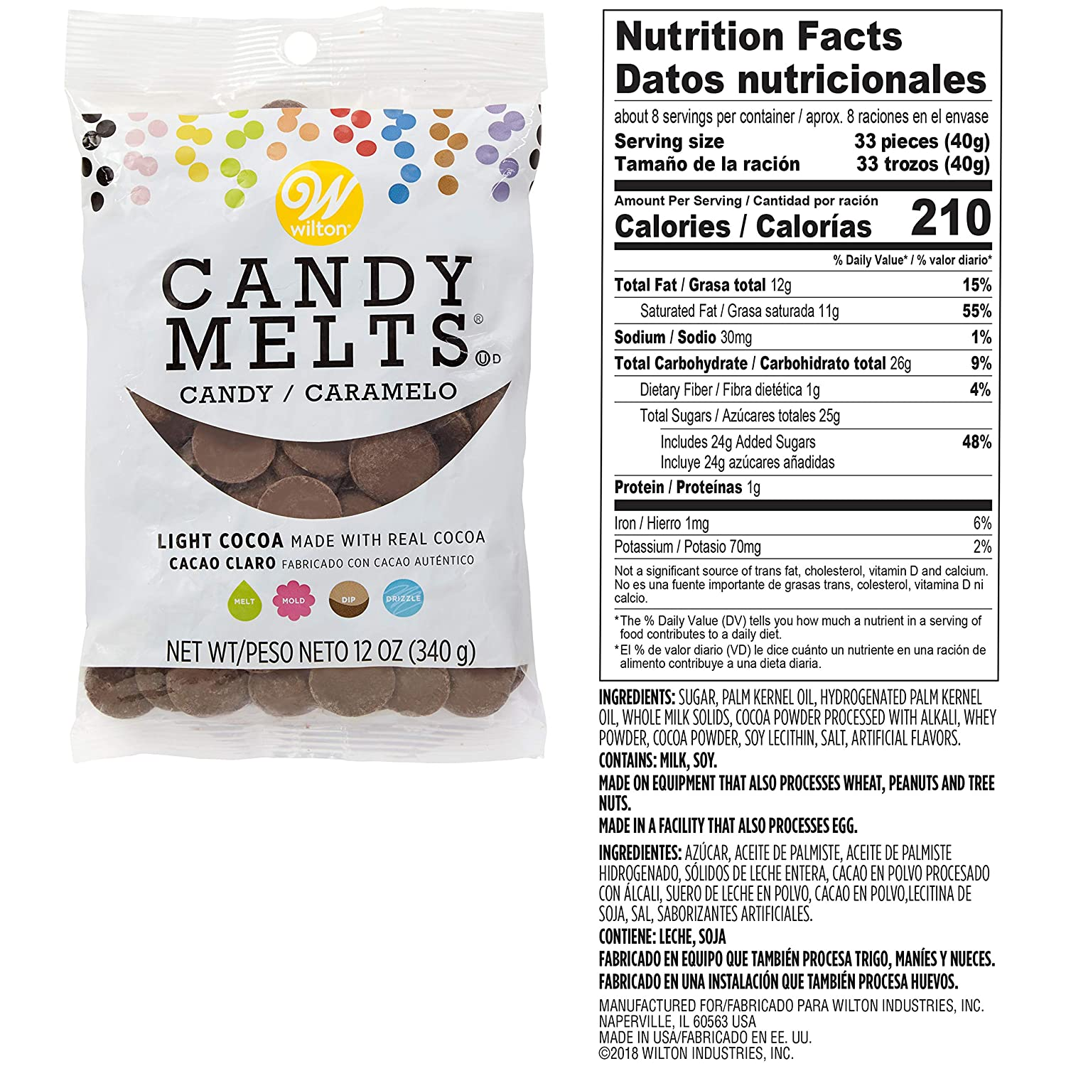 Amazon.com: Wilton 1911-0-0039 Candy Melts, Assorted ...
