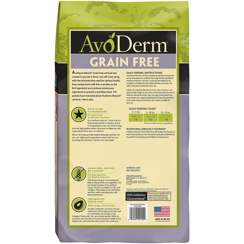 32d37ac85f Amazon.com   Avoderm Natural Grain-Free Dry Cat Food