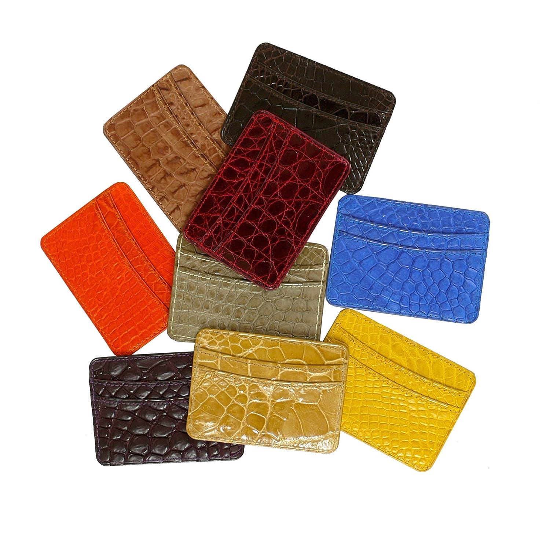 Crocodile Leather Card Case Holder