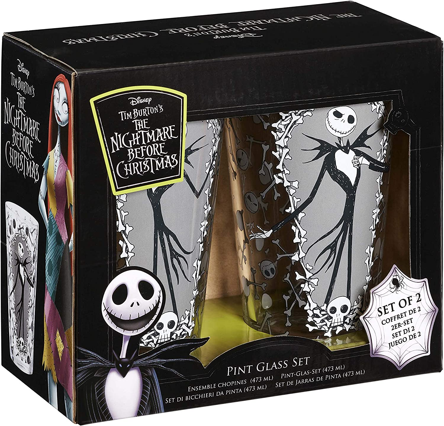 The Nightmare Before Christmas Nightmare Before Christmas: Pint Glass Set: Jack & Bones, Multicolor, One Size, 2: Amazon.es: Hogar