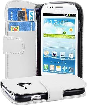 Cadorabo Funda Libro para Samsung Galaxy S3 Mini en Blanco Polar: Amazon.es: Electrónica