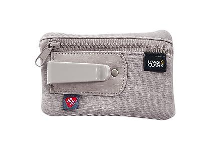 36421d7ed404 Lewis N. Clark RFID-Blocking Hidden Clip Stash Travel Belt Wallet, Brown,  One Size
