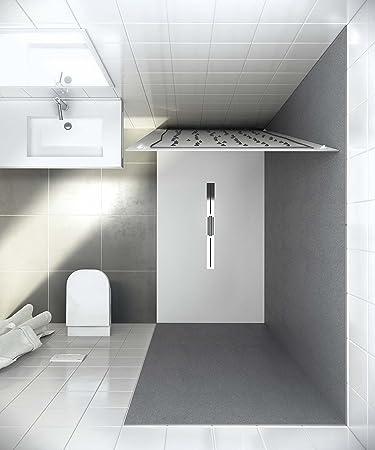 Bodentiefe Duschwanne bodengleiche duschwanne mit duschrinne 120x100 aus mineralguss