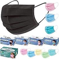 TCP Global Salon World Safety - 5 Boxes (250 Masks Adult & Child) Black, Pink, Blue, Aqua Colored Face Masks Breathable…