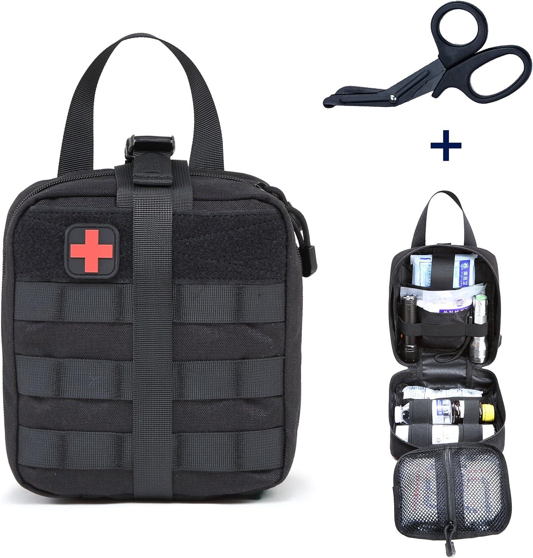 ZONEFR Bolsa Médico Primeros Auxilios MOLLE Bolsa Táctica EMT Pouch Emergency Survival para Camping Caza