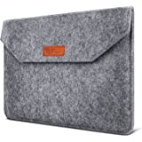 SAVFY 15.6-Inch Laptop Sleeve / Briefcase Case Cover Ultrabook Sleeve Carrying Protector Bag for 15 - 15.6 Inch Laptops / MacBook / Notebook Noble Grey