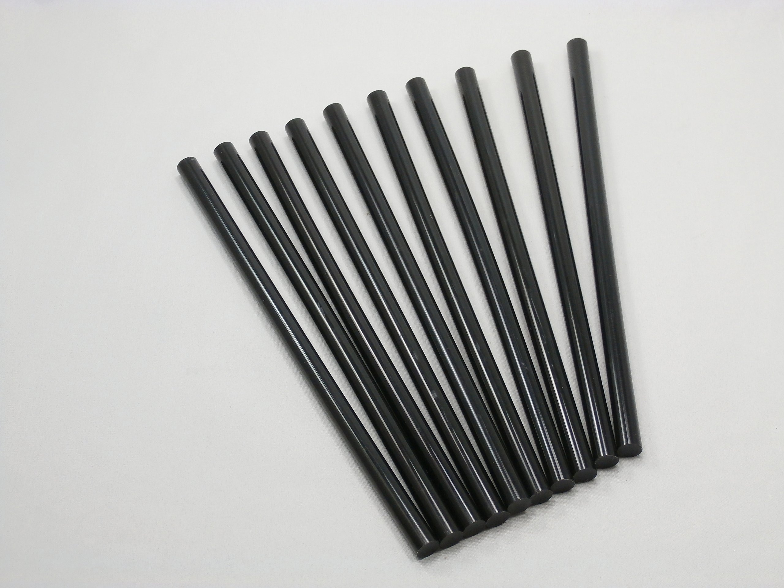 PDR Paintless Dent Removal Sticks 10 Black 7/16'' X 10'' sticks 11mm x 254mm