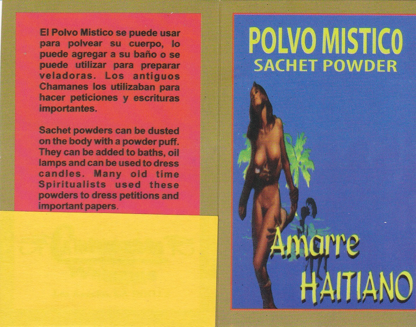 1 pkt. POLVO MISTICO AMARRE HAITIANO SACHET POWDER 1/2 oz pkt .... by Unknown (Image #4)
