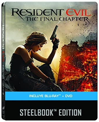 Amazon com: Resident Evil: The Final Chapter (Steelbook): Milla