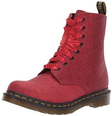 31d0f94537ad Dr. Martens Women's 1460 Pascal Glitter Fashion Boot red 3 Medium UK (5 US