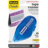 Scotch Tape Repositionable Runner, Double-sided, Photo Safe .31 in x 16.3 ft (055-RPS-CFT)