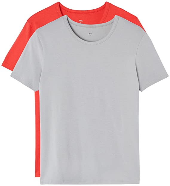 3044e09ea490fc FIND T-Shirt Herren mit rundem Ausschnitt