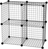IRIS Medium Wire Storage Cubes, Set of 4, Black