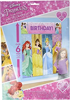 Amscan Disney Princess Dream Big Birthday Party Scene Setters Wall  Decorating Kit (5 Piece)