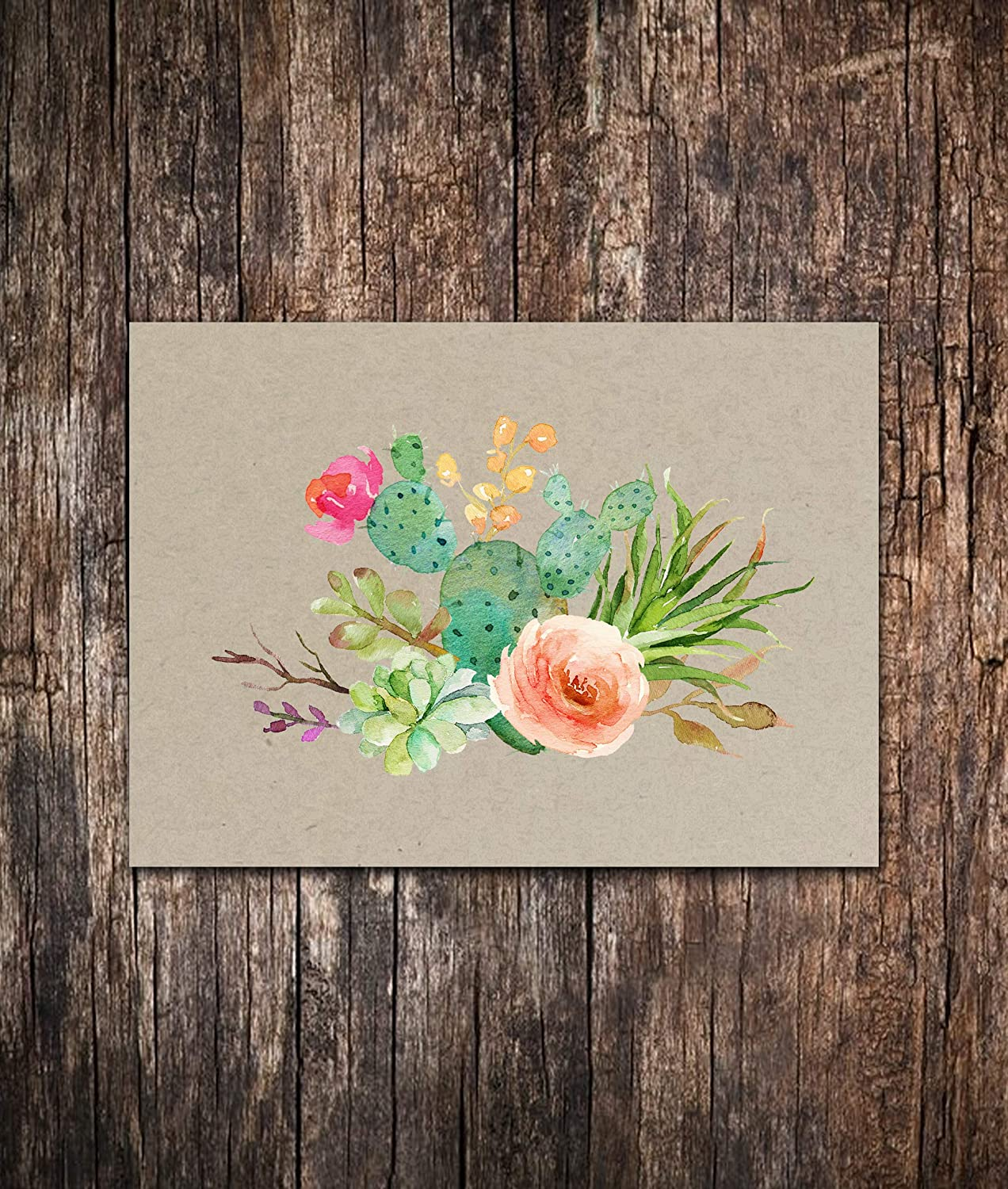 Succulent Blank Note Cards Set of 10-4.25 x 5.5 Note Cards - Blank Note Cards - Succulent Stationary - Succulent Gifts