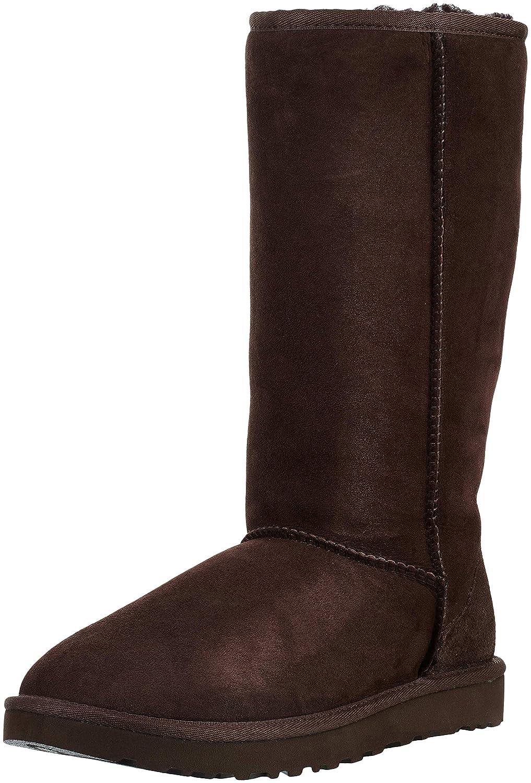 Ugg Australia Classic Tall - Botas de Piel para Mujer Gris Gris, Color marrón, Talla 42 EU B (M) UK: Amazon.es: Zapatos y complementos