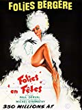 ADVERT THEATRE CABARET FOLIES BERGERE DANCER SHOWGIRL PARIS POSTER AFFICHE 30X40 CM 12X16 IN PRINT BB7977B