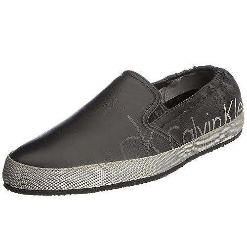 ck Calvin Klein O10102BPG41 Zapatillas de Casa, de Cuero Nobuck, para Hombre, Negro (Bpg), Talla 40: Amazon.es: Zapatos y complementos