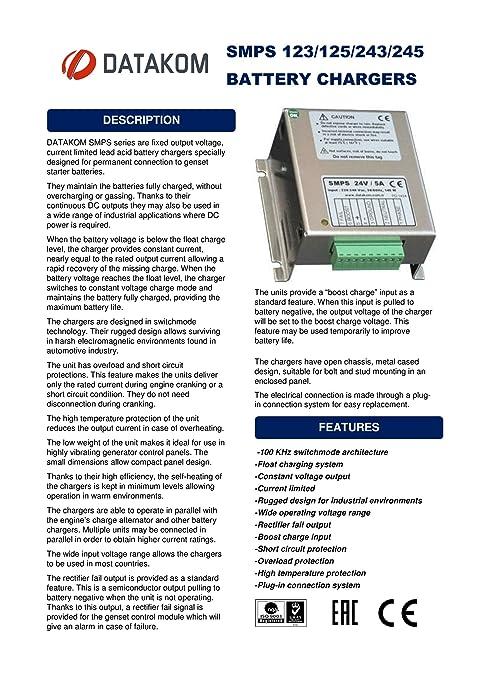 DATAKOM SMPS-125 Generator Battery Charger / 12V: Amazon.co.uk ...