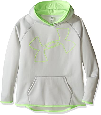 6ccb8fd2631e Amazon.com  Under Armour Girls  Armour Fleece Jumbo Logo Hoodie ...