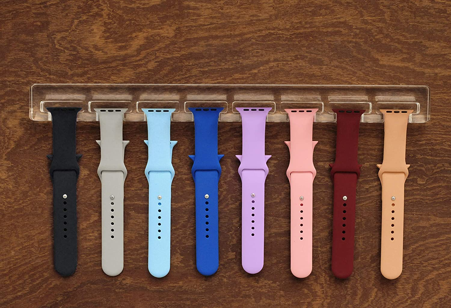 JEREVER Watch Band Organizer for Apple Watch Acrylic Smartwatch Band Wall Display Rack (Clear)