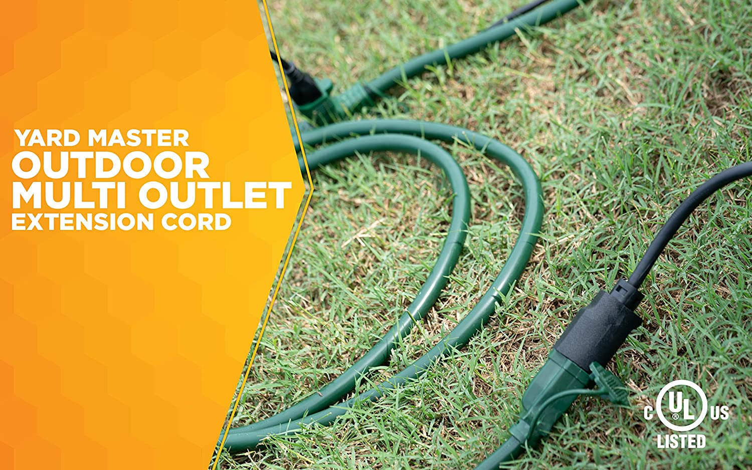 Woods 3030 Yard Master Outdoor Extension Cord With Evenly Spaced Wiring Outside Electrical Box Plugs And 3 Outlets 25 Ft Green