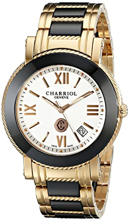 05366b207c7 Image Unavailable. Image not available for. Colour  Charriol Men s  P42P1CP42P1C008 Parisi Gold-Tone Stainless Steel Watch