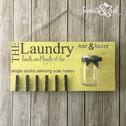 LynnYo22 - Cartel de lavandería con Texto en inglés Lost ...