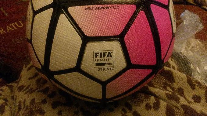 Nike Ball Ordem 3 Balón, Unisex, White/Hyprpk/Black/Flshlm, 5 ...