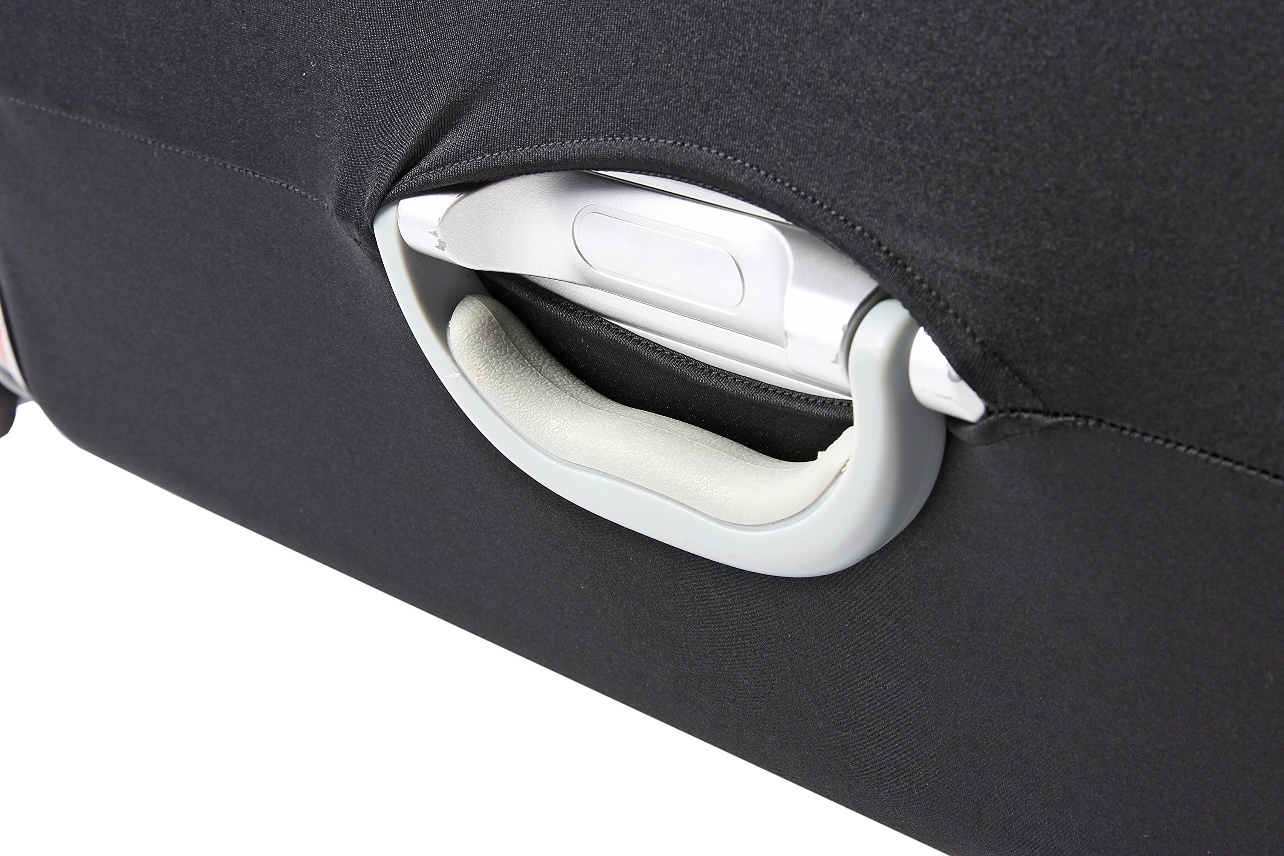 Travel Luggage Protective Cover - Stretchable Suitcase Protector Case, Black, 26 Inches by Juvale (Image #7)
