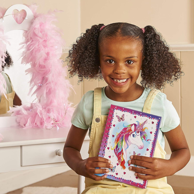 NICEXMAS Lucy Locket Livre dactivit/és pour Enfants /«/Licorne Magique//» coloriages Pages lign/ées et Bien Plus Autocollants Cahier dactivit/és et Journal Intime pour Enfants