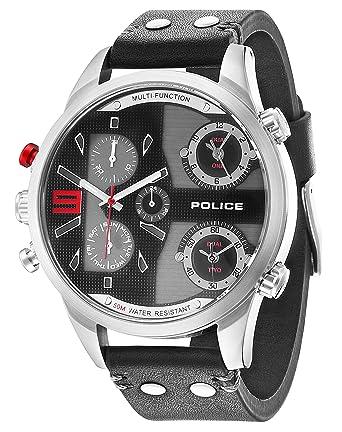 Police 14374XSUG/02. Reloj de Pulsera con cronógrafo para Hombre (Mecanismo de Cuarzo