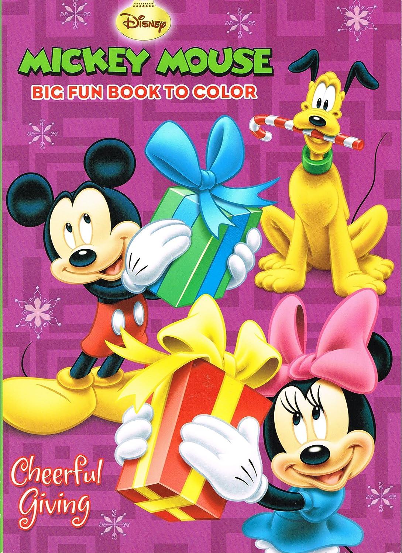 Amazon DisneyR Mickey Mouse Christmas Coloring Book Set 2 Books Toys Games