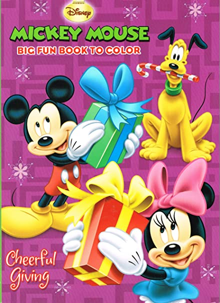 Disney Mickey Mouse Christmas Coloring Book Set 2 Coloring Books