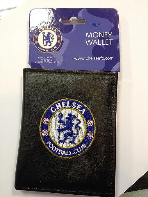 Chelsea FC - Cartera Oficial de Piel con Escudo Bordado: Amazon.es: Deportes y aire libre