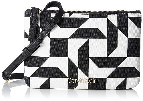 dd21f2c893 Calvin Klein Ck Must Ew Crossbody Q - Borse a tracolla Donna, Nero (QUILT