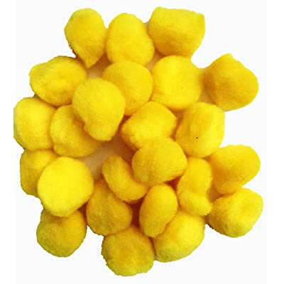 "Horizon Group USA Fluffy Yellow Craft Pom Poms 1"" (Pack of 72 ): Toys & Games"