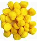 """Fluffy Yellow craft Pom Poms 1"""" (Pack of 72 )"""