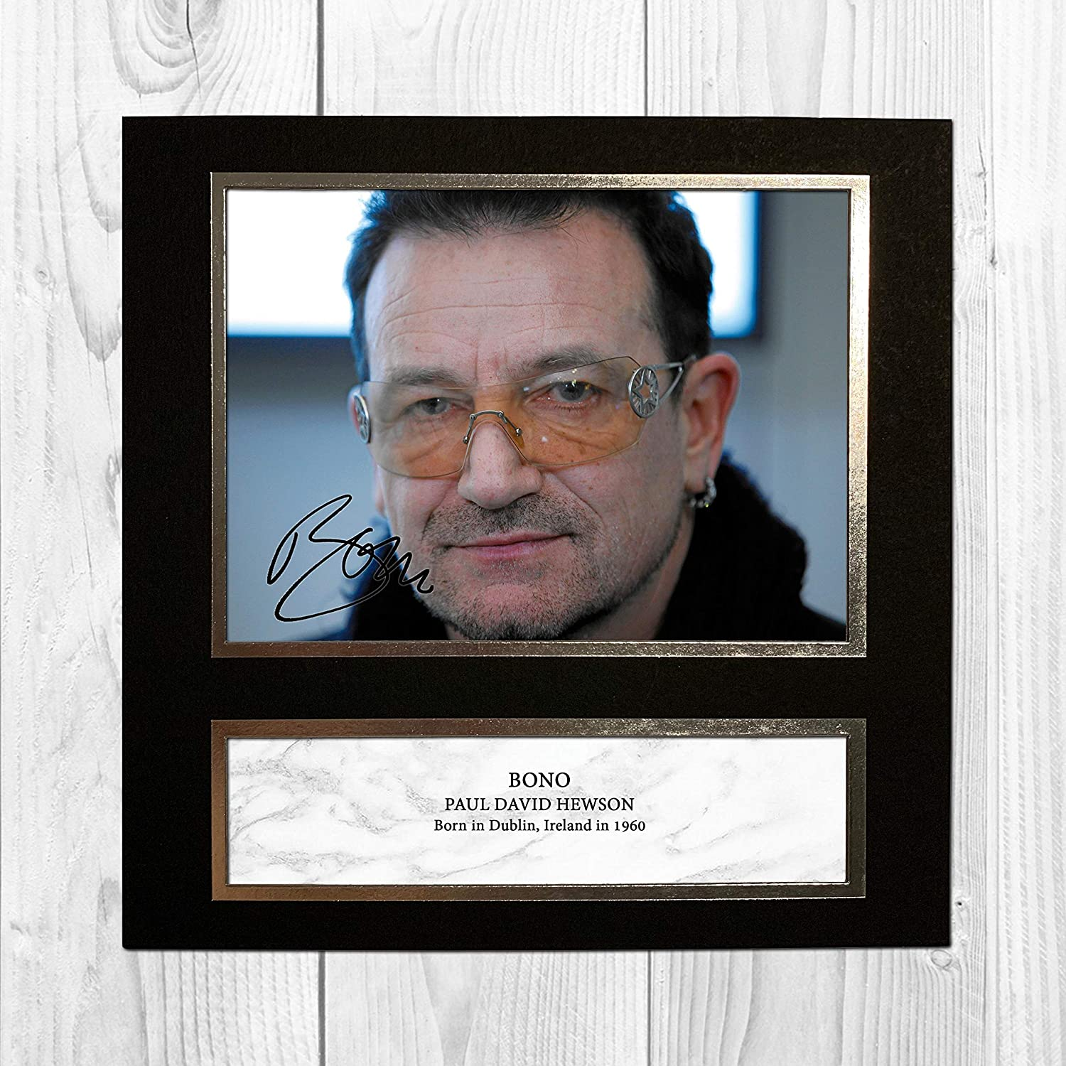 BONO AUTOGRAPHED SIGNED /& FRAMED PP POSTER PHOTO