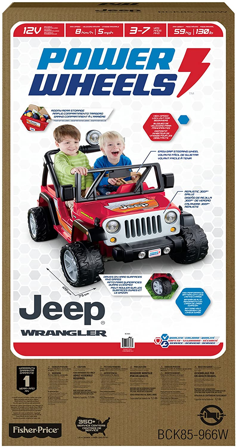 Fisher Price Power Wheels Jeep Wrangler Lava Red Black Amazon Wiring Diagram Parts Toys Games