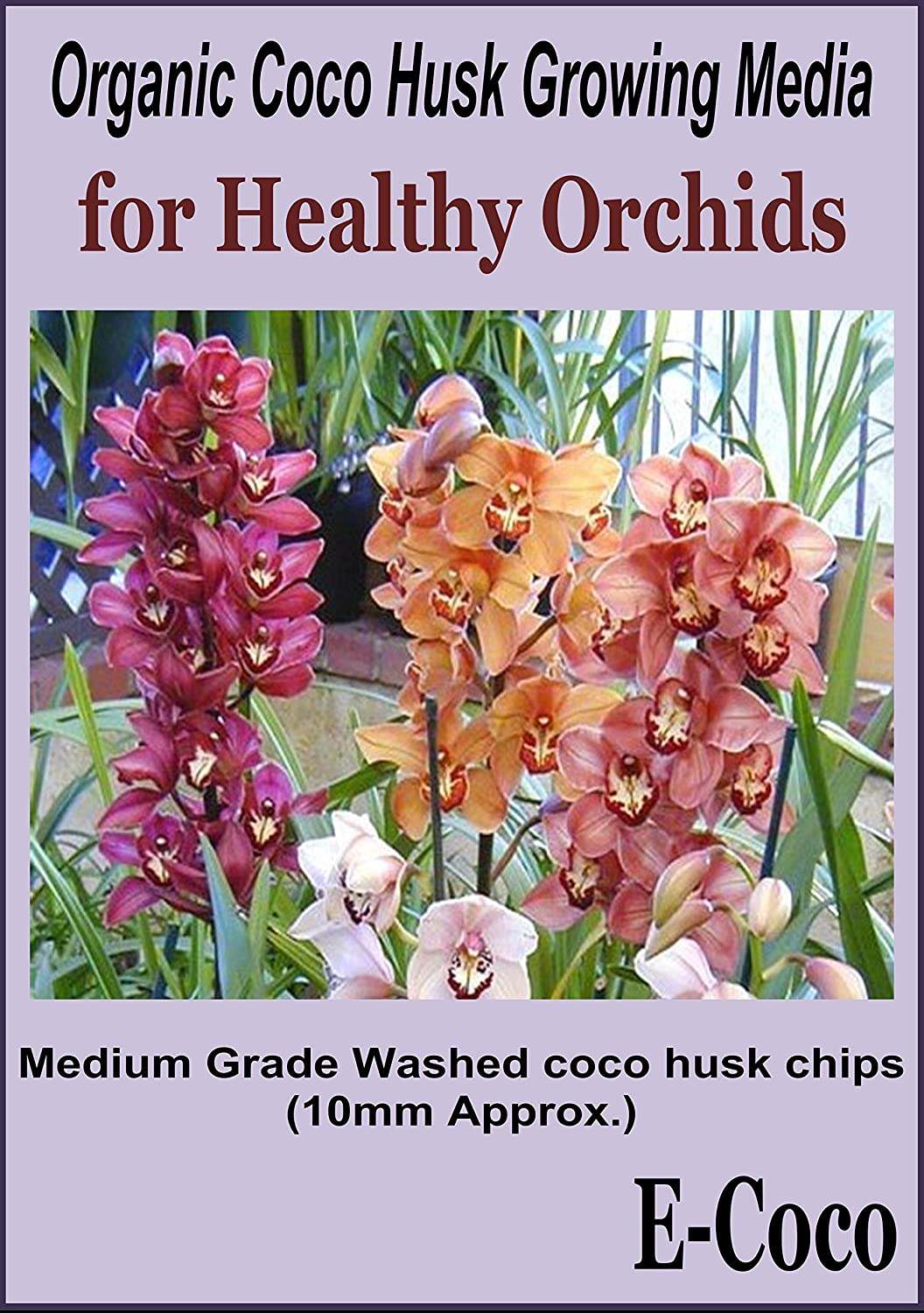 ORCHID COMPOST MEDIUM GRADE SS COCONUT HUSK CHIPS READY TO USE (1 LITRE) E-COCO PRODUCTS UK