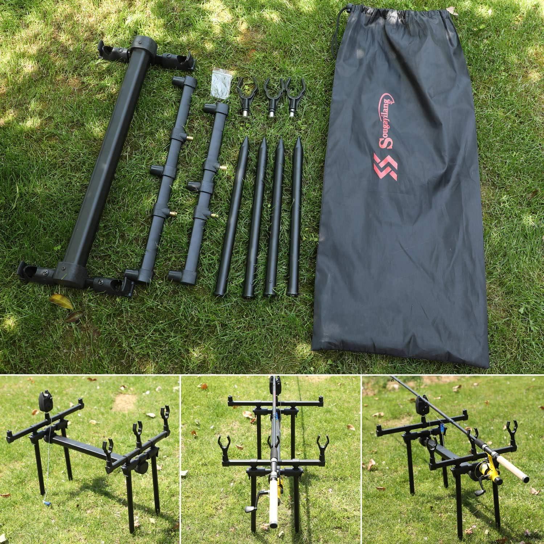 Sougayilang Carp Fishing Goal Post Rod Pod Stand Holder Fishing Pole Stand